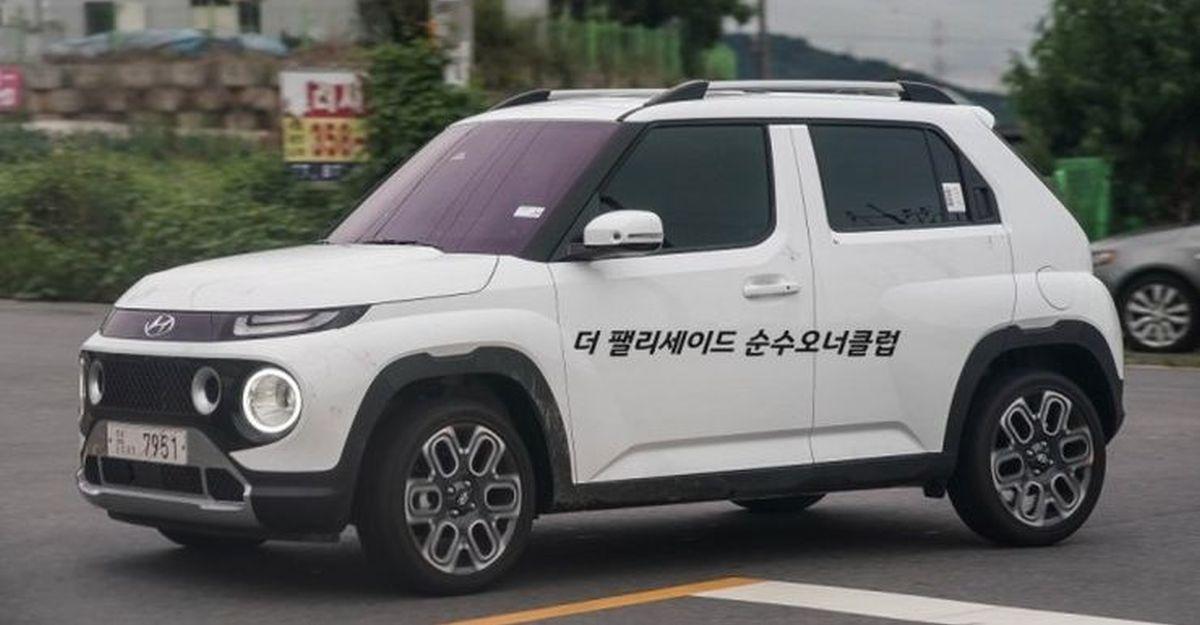 Hyundai Casper माइक्रो एसयूवी: Tata Punch प्रतिद्वंद्वी सतह की नई लाइव छवियां