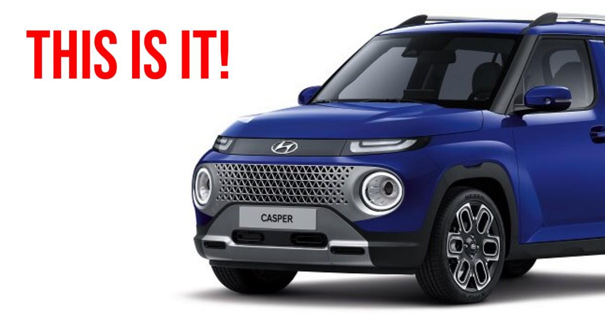 Hyundai Casper माइक्रो एसयूवी: पहली लाइव तस्वीरें सामने आई