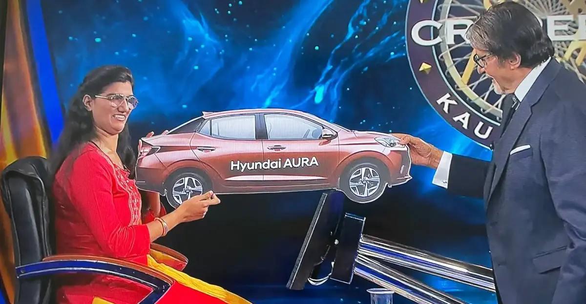 KBC विजेता हिमानी बुंदेला को मिले 1 करोड़ रुपये और Hyundai Aura कॉम्पैक्ट सेडान