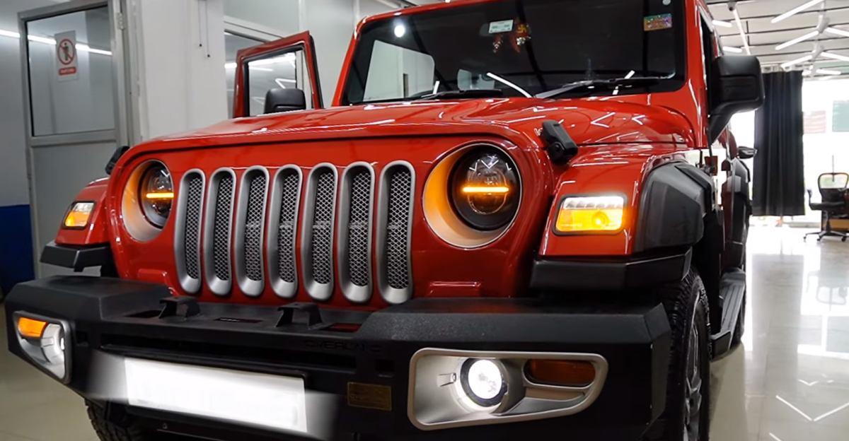 Jeep Wrangler की तरह दिखने के लिए संशोधित नई Mahindra Thar