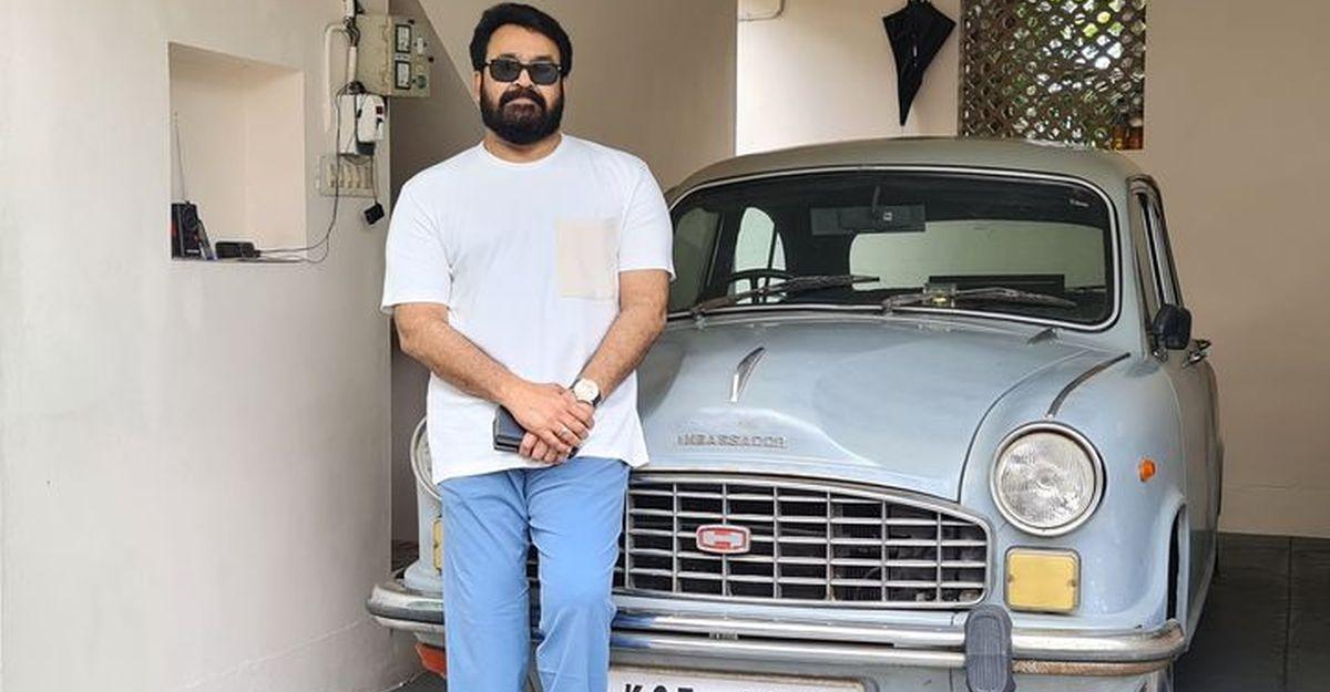 मलयालम फिल्म स्टार Mohanlal की पहली कार के साथ तस्वीर इंटरनेट पर वायरल