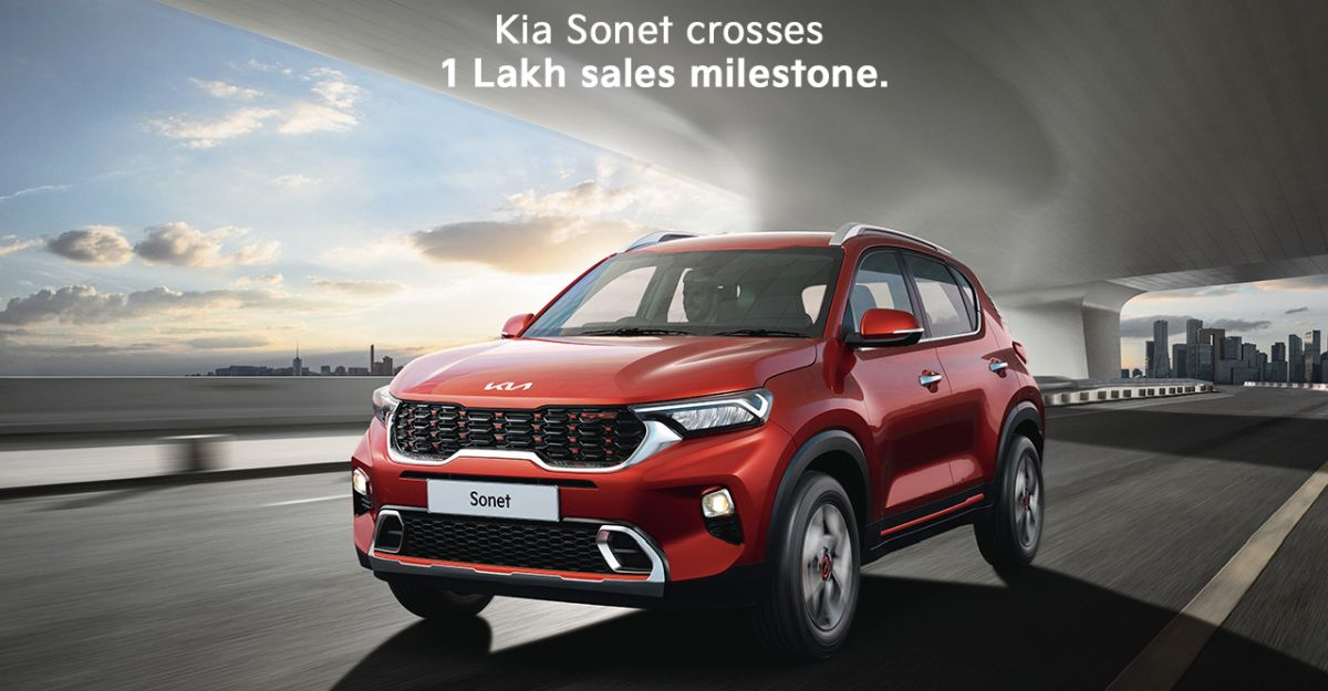 लॉन्च के 12 महीने से भी कम समय में Kia Sonet की बिक्री 1 लाख के पार