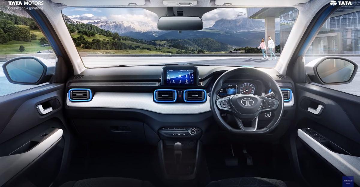 Tata Punch micro-SUV interiors आधिकारिक तौर पर सामने आया
