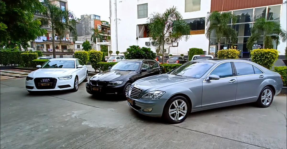 Well maintained, used Audi, BMW & Mercedes-Benz लक्ज़री सेडान सस्ती कीमतों पर उपलब्ध