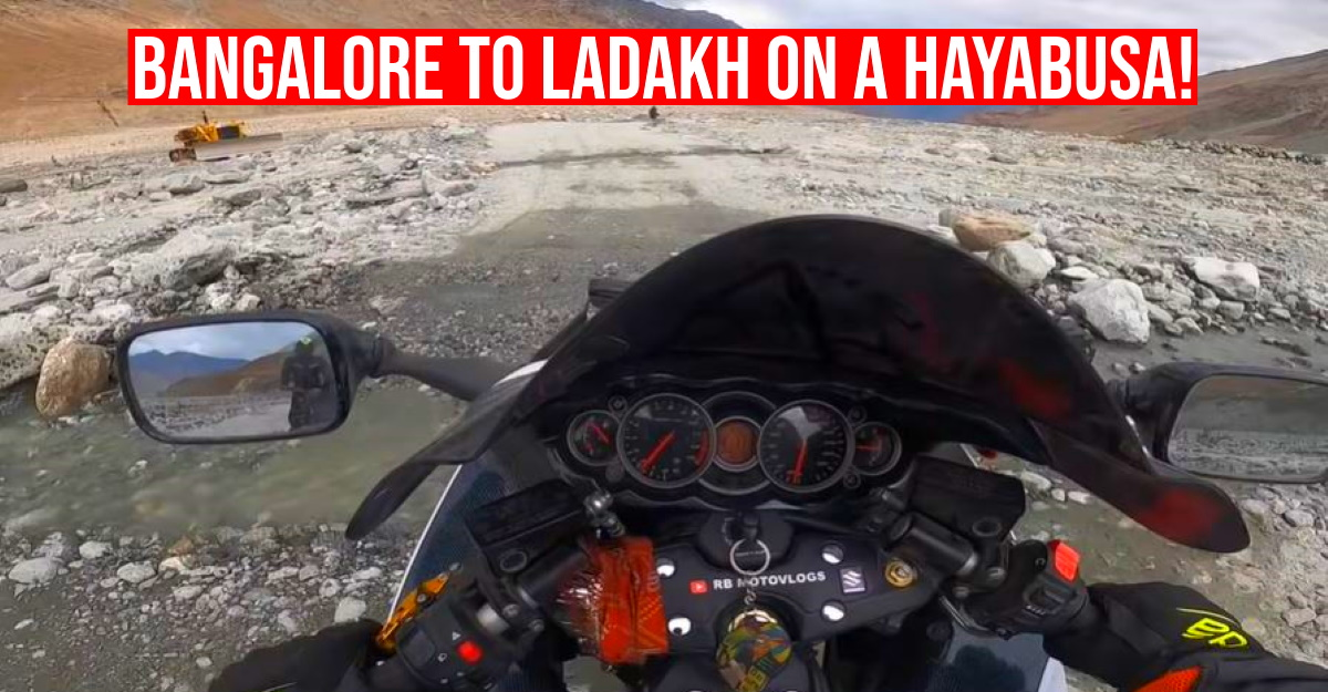 Suzuki Hayabusa सुपरबाइक पर बैंगलोर से लद्दाख? Vlogger दिखाता है कि यह कैसे किया जाता है