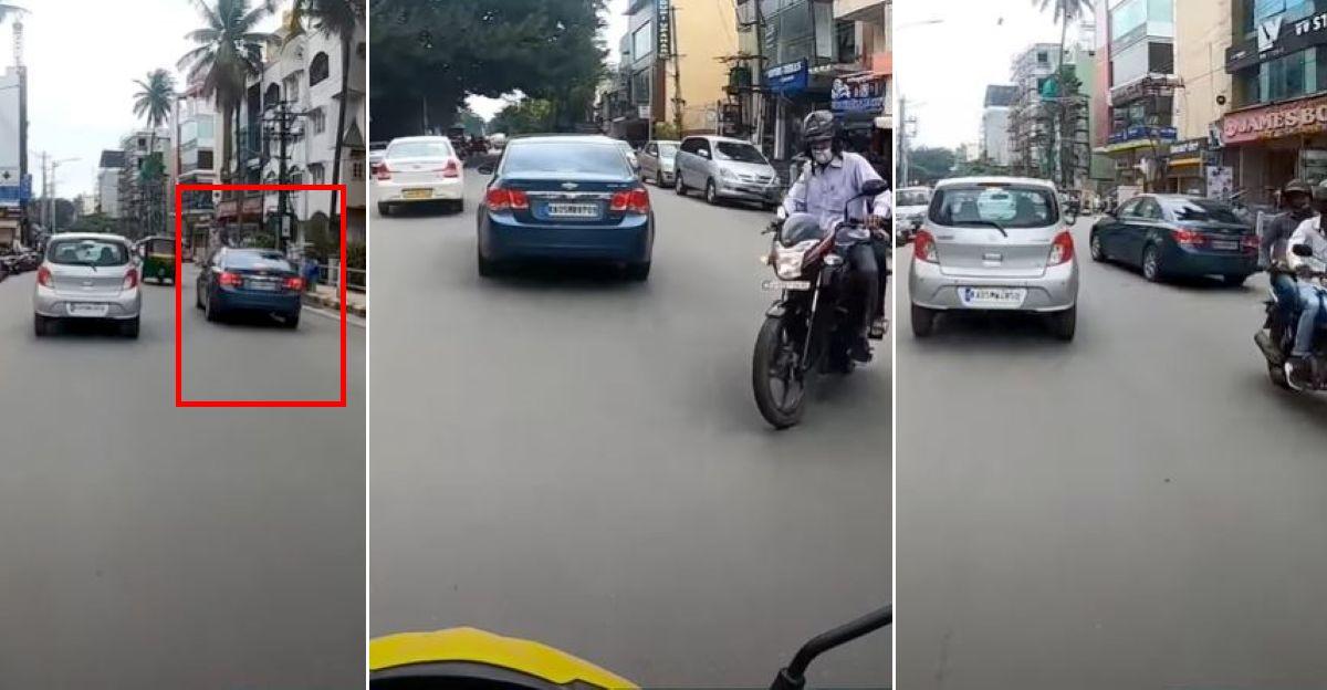 बेंगलुरू पुलिस ने रैश ड्राइविंग वीडियो वायरल होने के बाद Chevrolet Cruze के मालिक का ड्राइविंग लाइसेंस रद्द कर दिया