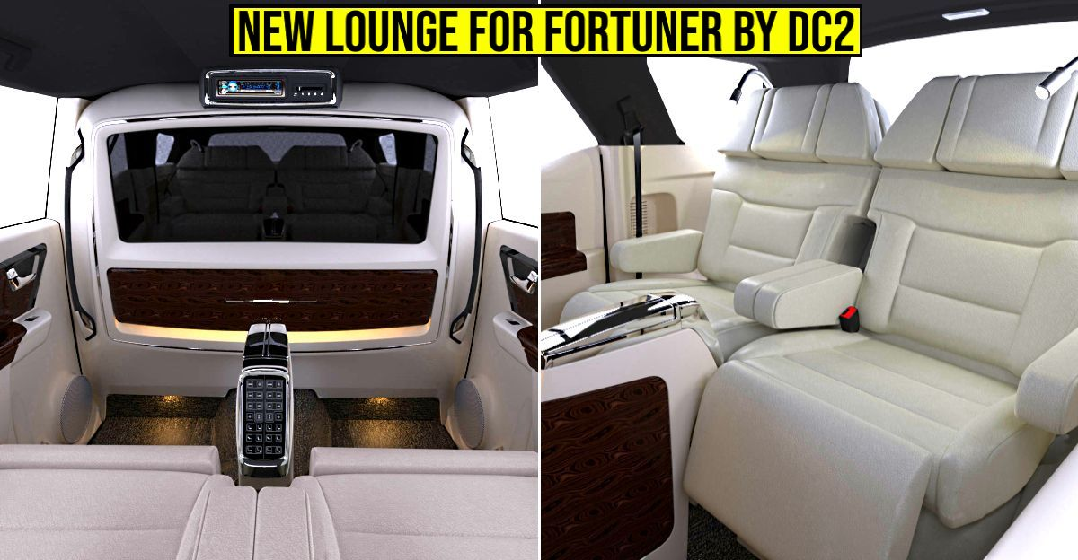 DC2 अनुकूलित Toyota Fortuner में Rolls Royce का केबिन फील है