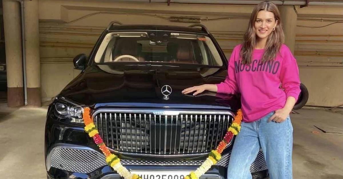 कृति सनोन 2.5 करोड़ Mercedes-Maybach GLS600 सुपर लक्ज़री एसयूवी घर लाने वाली पहली बॉलीवुड अभिनेत्री हैं