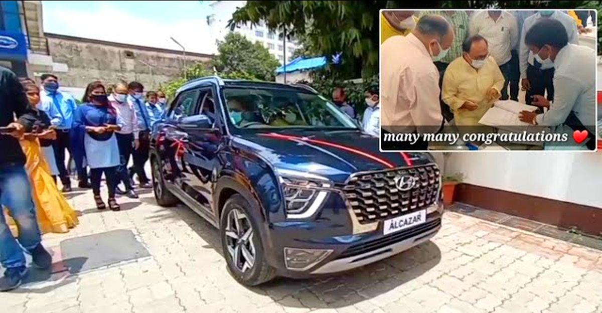 यूपी के कैबिनेट मंत्री सिद्धार्थ नाथ सिंह को मिली Hyundai Alcazar SUV