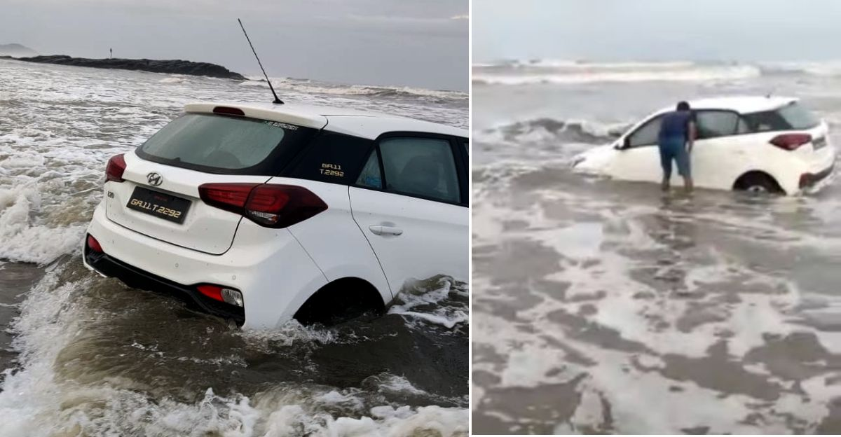 गोवा में Hyundai i20 को समुद्र में ले जाने के आरोप में पर्यटक गिरफ्तार