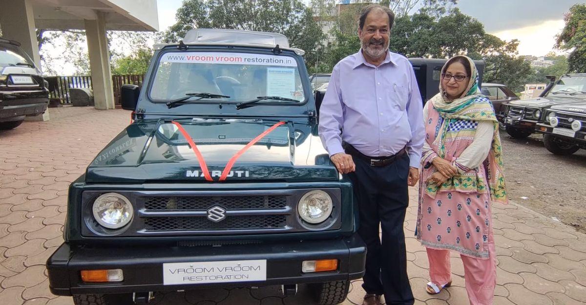 15 साल पुरानी Maruti Suzuki Gypsy को खूबसूरती से उसकी मूल स्थिति में बहाल किया गया