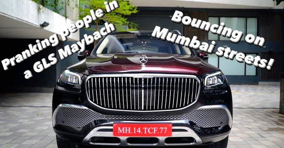 Mercedes Maybach GLS600 में मुंबई व्लॉगर ने 'बाउंस फीचर' के साथ लोगों के साथ prank किया