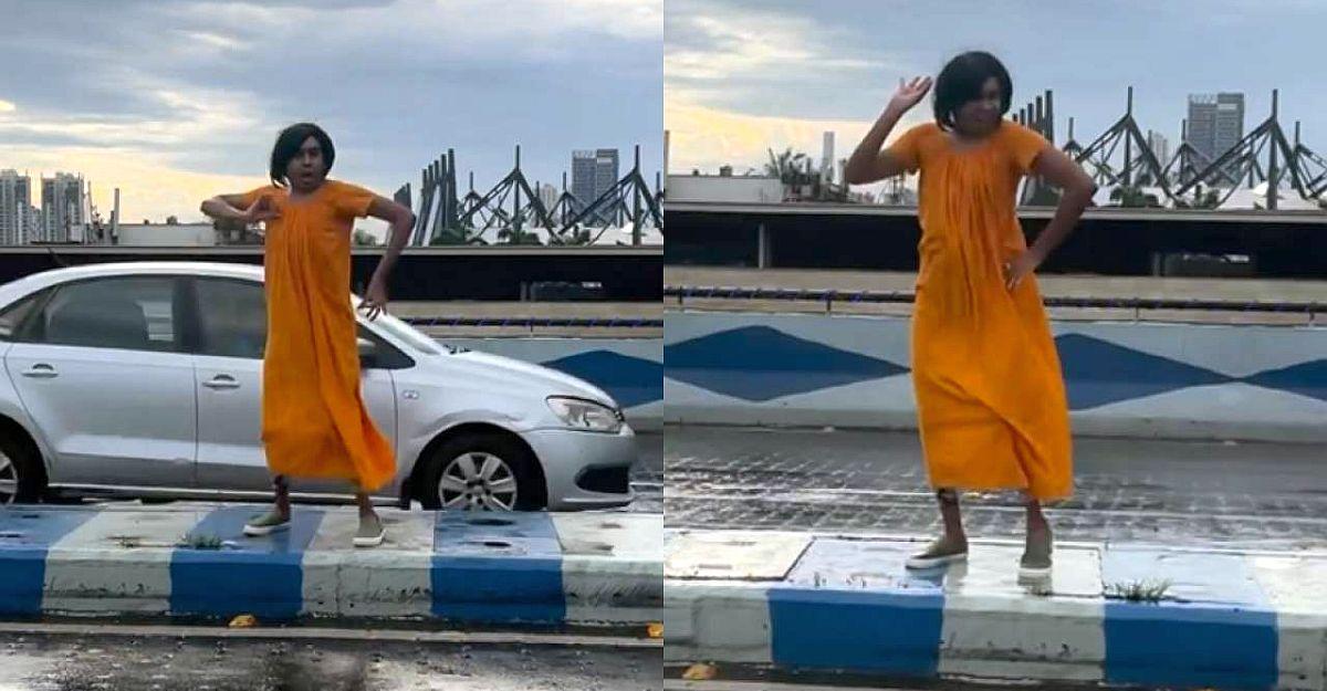 Flyover के बीच में Influencer डांस: पुलिस ने जारी किया जुर्माना