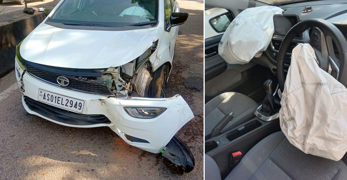 Tata Altroz के मालिक ने अपनी जान बचने पर कार की ठोस निर्माण गुणवत्ता को धन्यवाद दिया