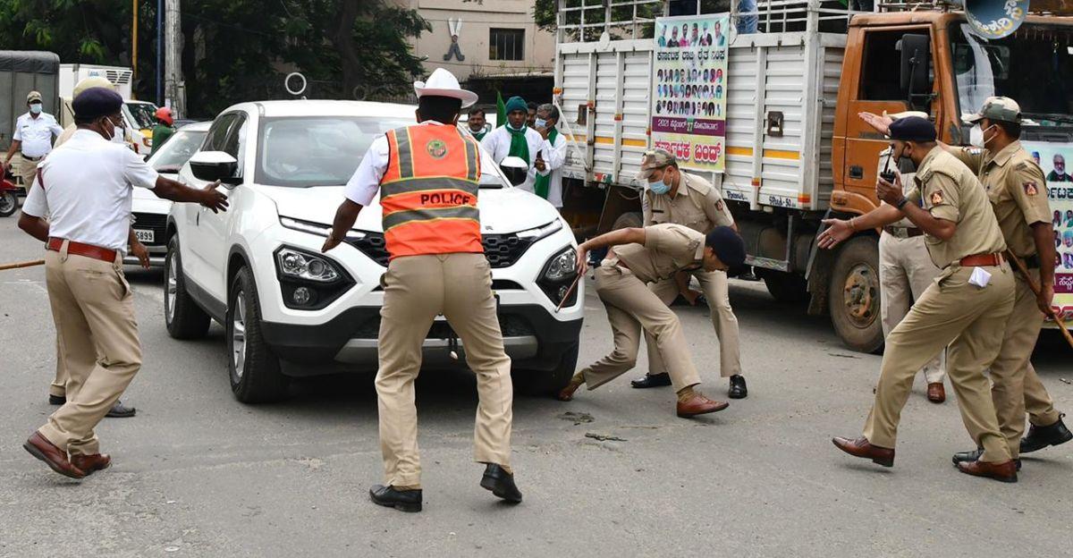 DCP के पैर के ऊपर से Tata Harrier दौड़ा: पुलिस ने ड्राइवर को हिरासत में लिया, कार जब्त