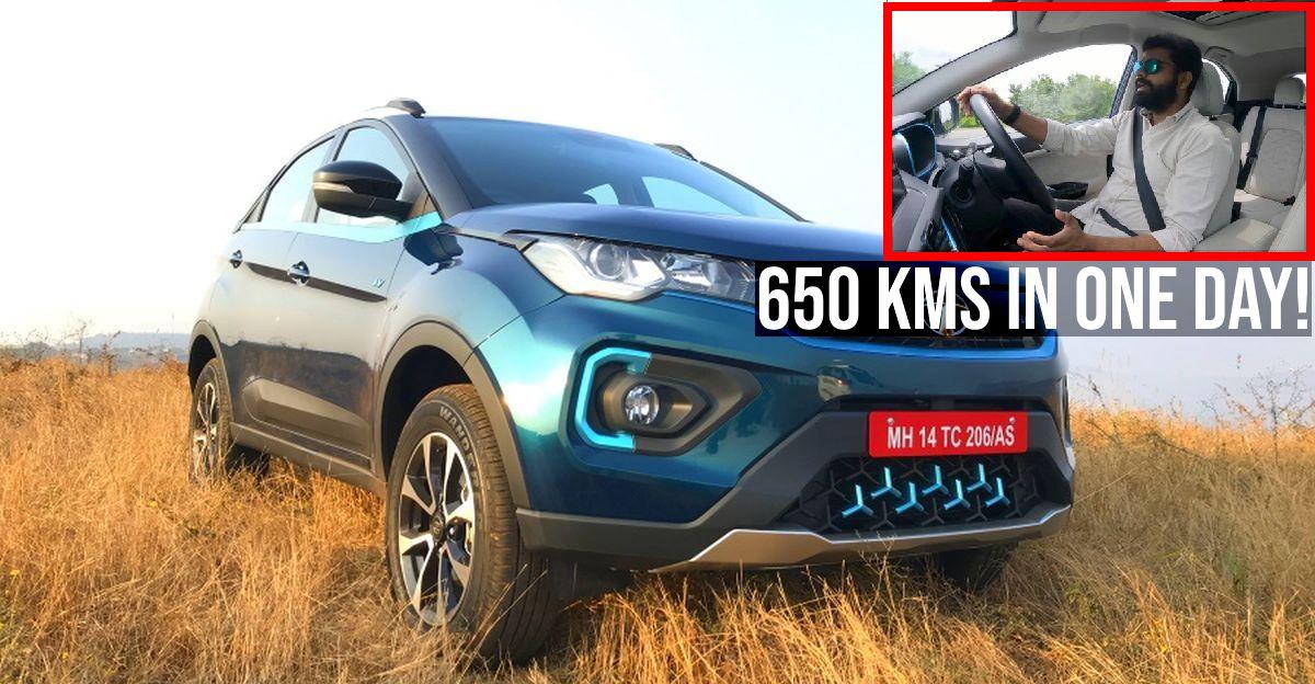 Tata Nexon EV में एक ही दिन में 650 किलोमीटर: Vlogger बताते हैं कि उन्होंने यह कैसे किया