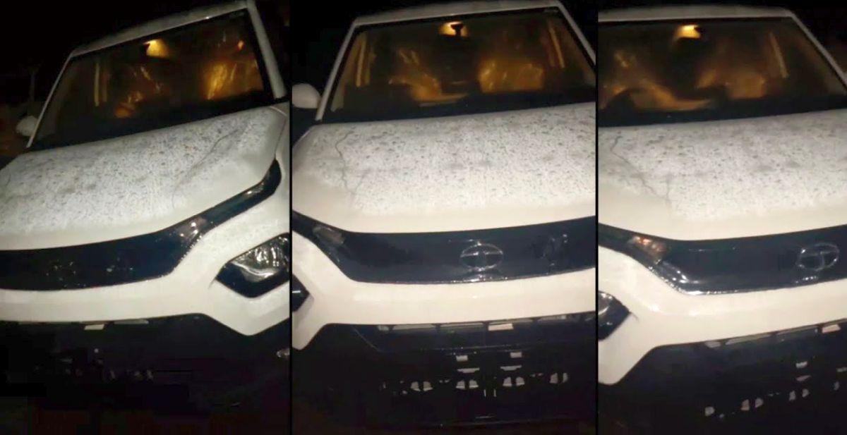Tata Punch माइक्रो एसयूवी लॉन्च से पहले सफेद रंग में दिखाई दी: मिनी Harrier की तरह दिखता है