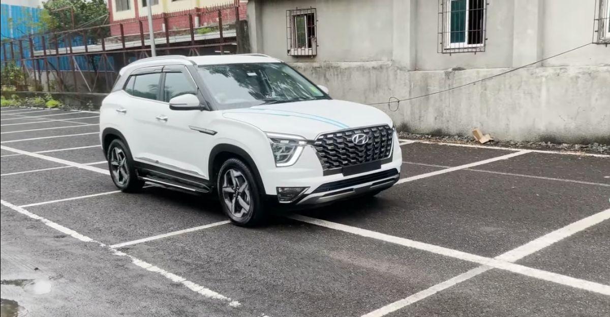 Hyundai Creta का बेस E वेरिएंट Alcazar जैसा दिखने के लिए संशोधित