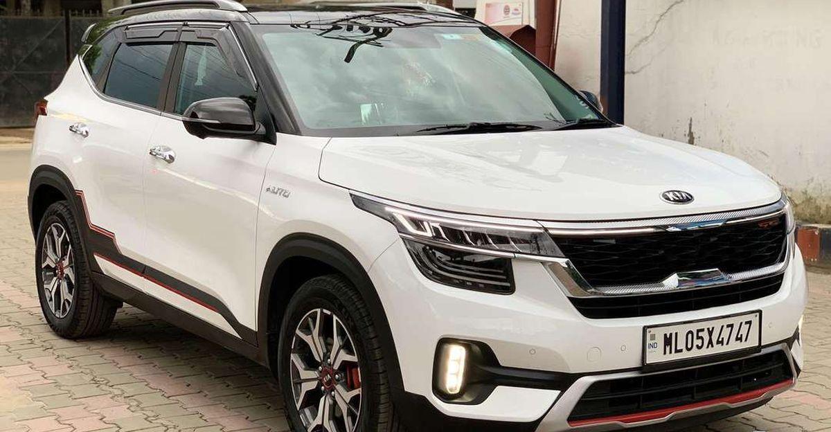 लगभग नई 2021 Kia Seltos कॉम्पैक्ट एसयूवी बिक्री के लिए