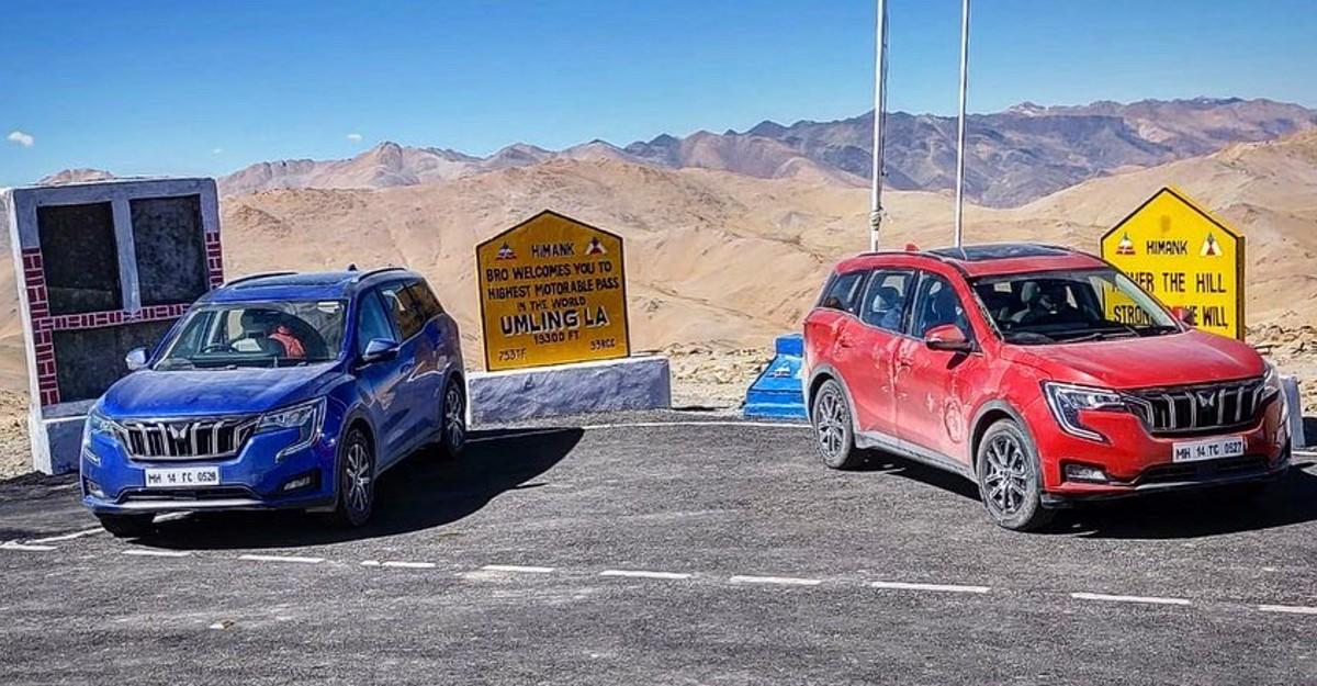 Umling La पहुंची Mahindra XUV700; दुनिया की सबसे ऊंची मोटर योग्य सड़क