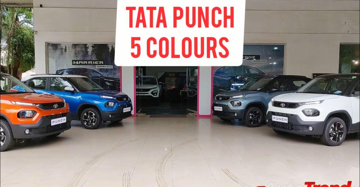 Tata Punch माइक्रो SUV: वॉकअराउंड वीडियो में दिखाए गए 5 रंग विकल्प