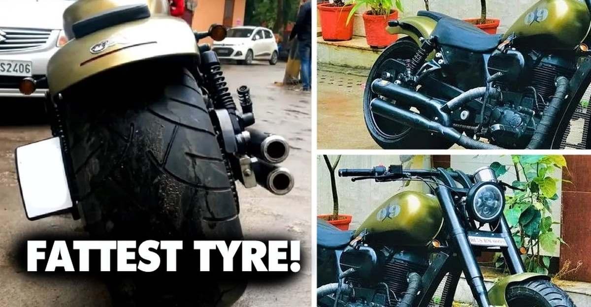 Royal Enfield Classic 500 सबसे मोटे टायर के साथ जंगली दिखता है
