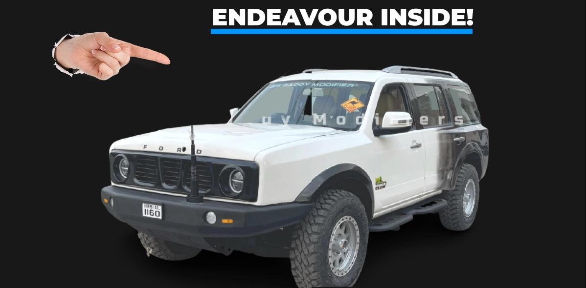 Ford Endeavour को Ford Bronco में बदला गया