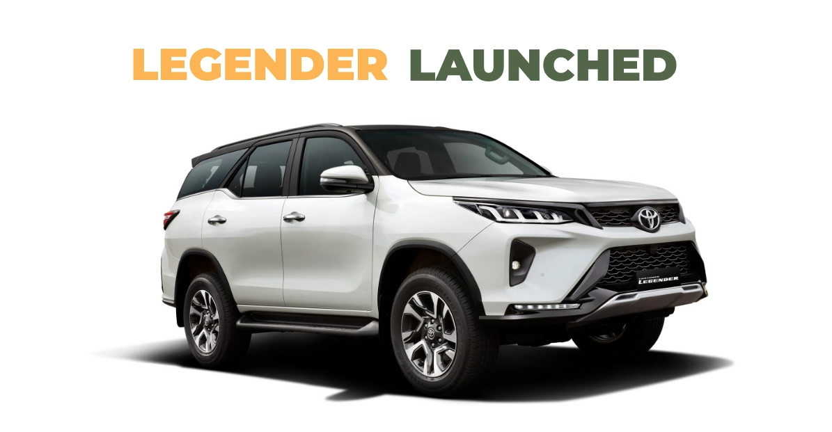 Toyota Fortuner Legender 4×4 को 42.33 लाख रुपये एक्स-शोरूम में लॉन्च किया गया