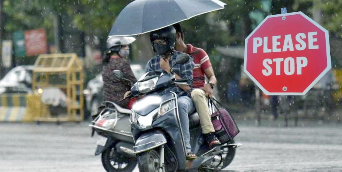 दोपहिया वाहनों पर छाते का प्रयोग प्रतिबंधित: MVD