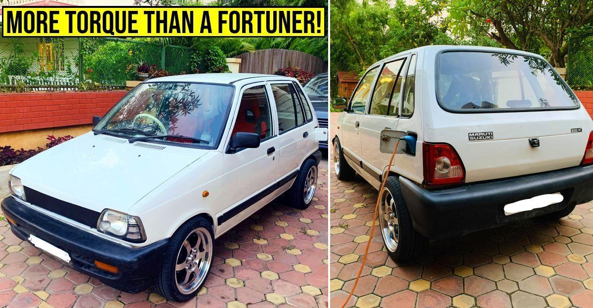Maruti 800 Electric Car Toyota Fortuner की तुलना में अधिक टॉर्क बनाती है