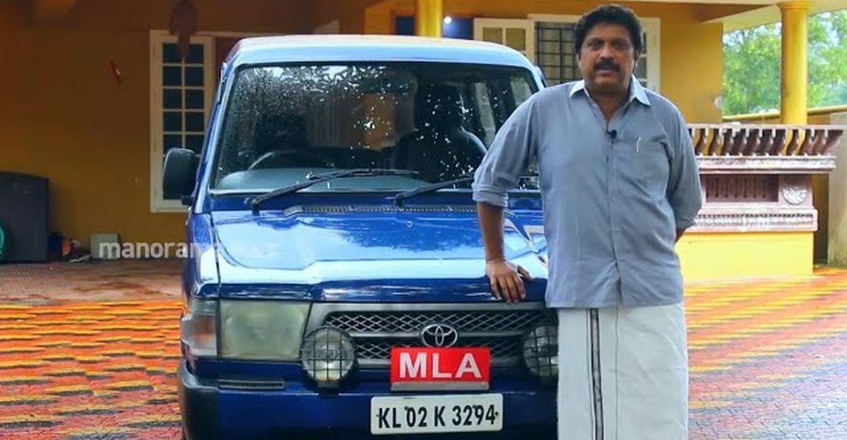 Kerala MLA बताते हैं कि वह अभी भी 20 साल पुरानी Toyota Qualis का उपयोग क्यों करते हैं
