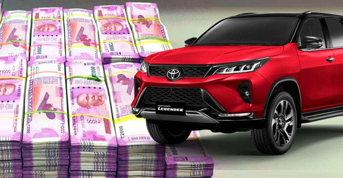 Toyota Fortuner Legender 4X4 की कीमत बैंगलोर में 50 लाख रुपये से अधिक है